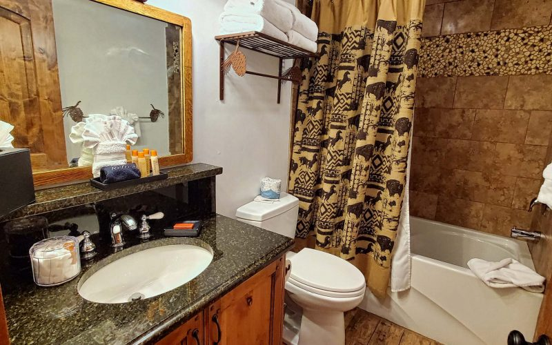 MASTER COTTAGE SUITE WITH PATIO - bathroom - Parkway Inn